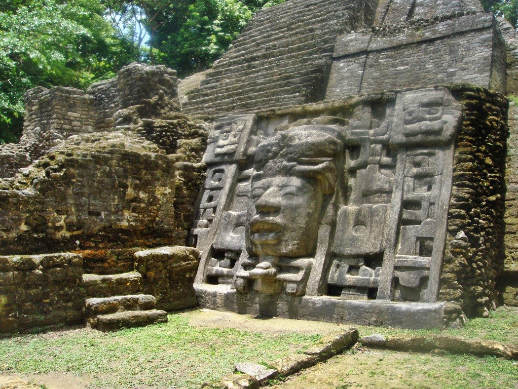 Mayan ruins of Lamanai, Belize.