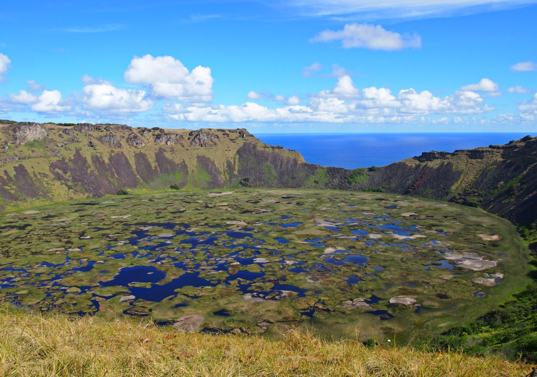Rano Kau, Easter Island.