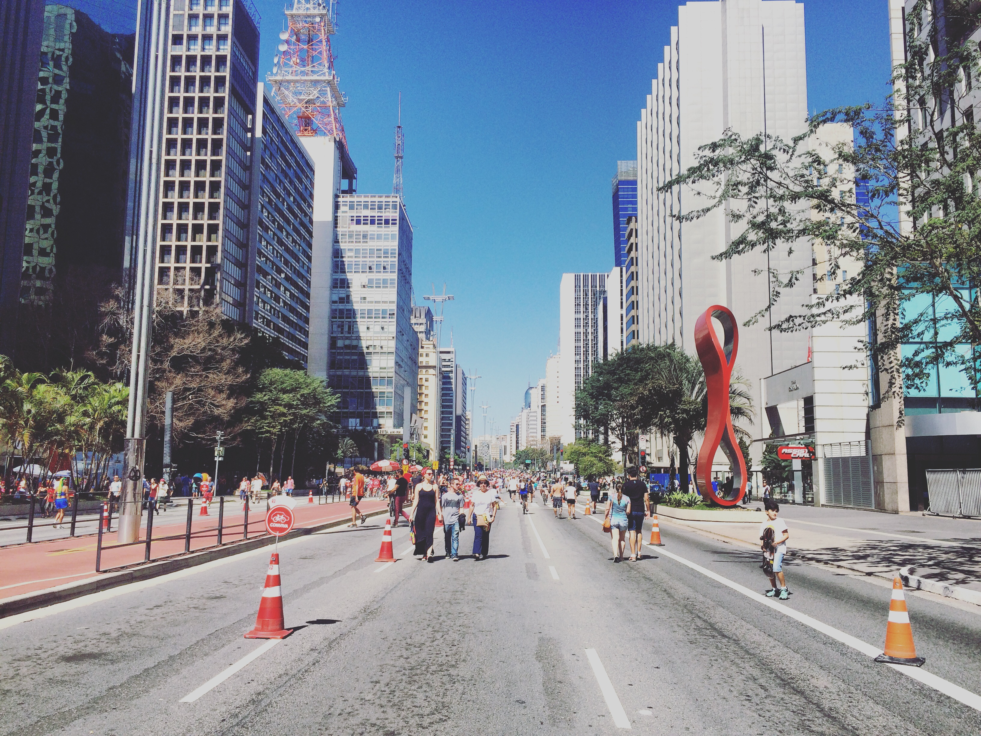 Paulista Avenue on Sundays - public open space