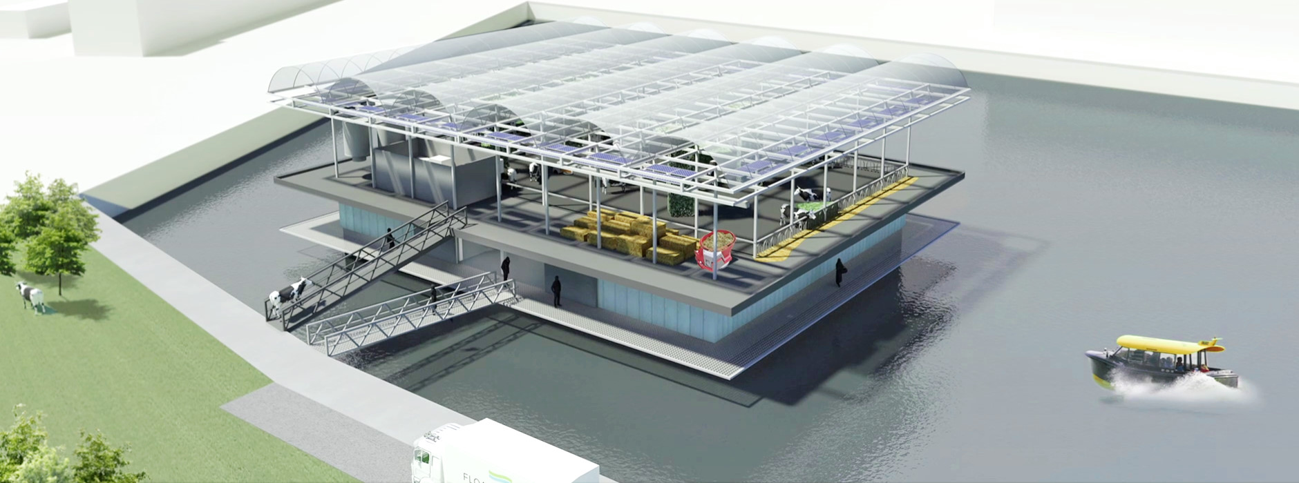 Floating farm in Rotterdam