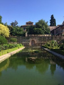 Part of the gardens at the Alhambra