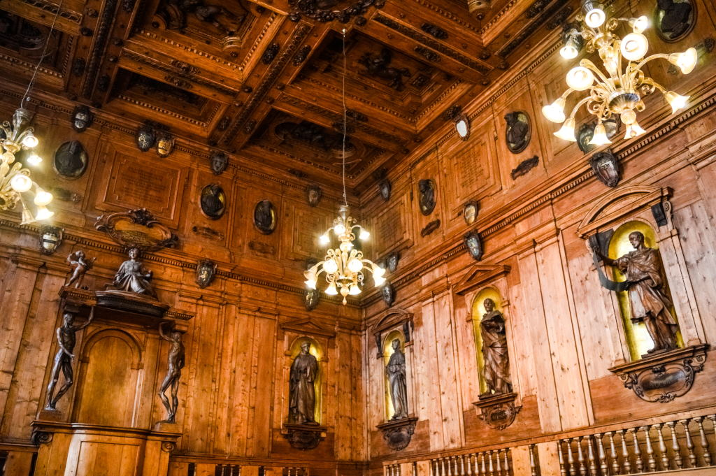 Historical anatomical theatre in Italy