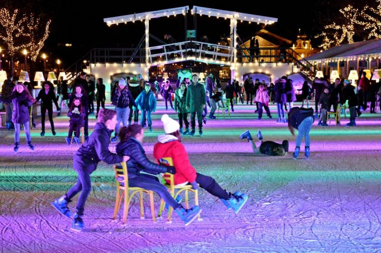 Christmas Ice Rink in Amsterdam