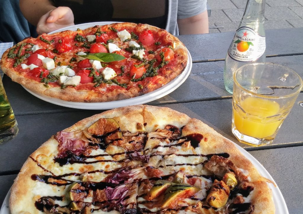A meal at Pizza Bakkers in Amsterddam