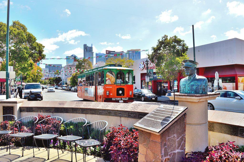 Street view van Little Italy in San Diego