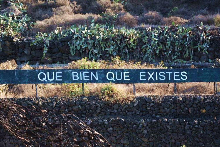 Sign saying: How good it is that you exist