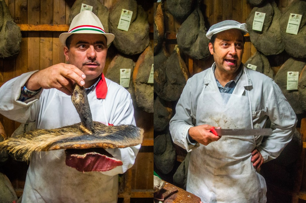 Allesandro and Carlo Staccioli show their wares
