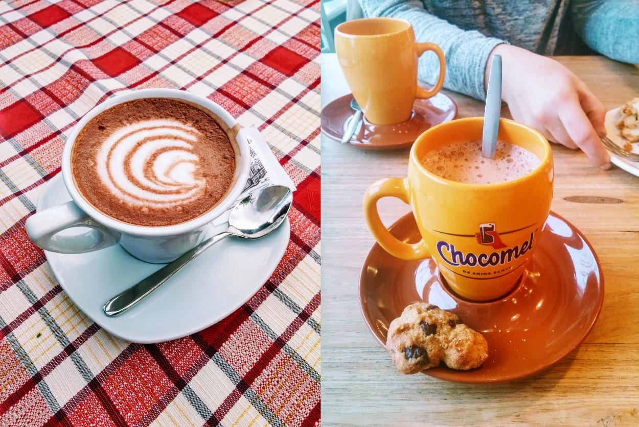Hot drinks in winter