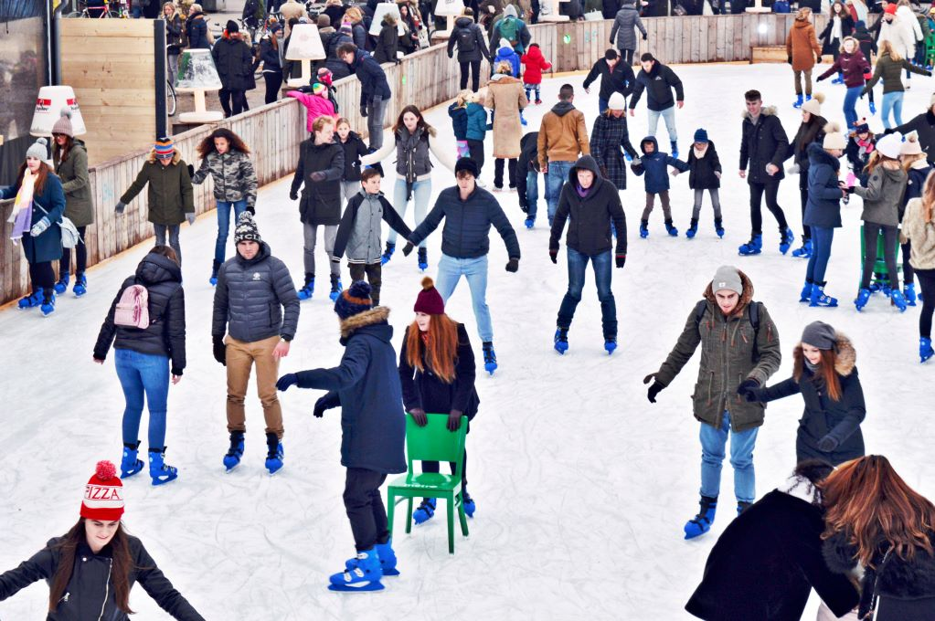 An ice skating rink in Amsterdam