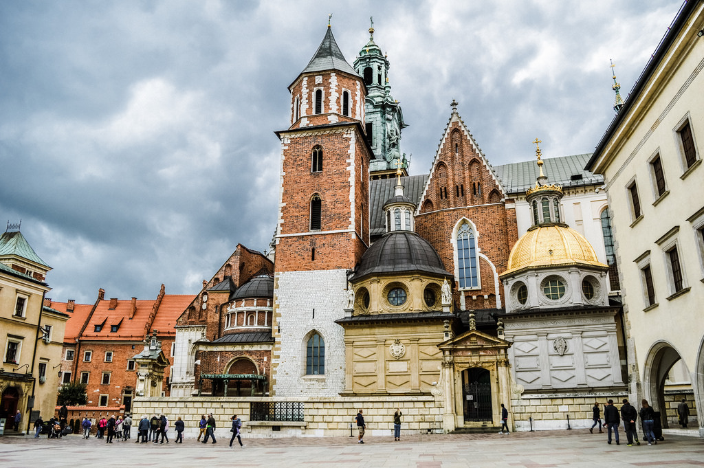 Wawel Cathedral in Krakow, Poland.