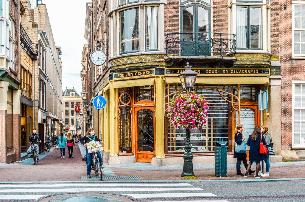 A street shot in the Dutch city of Leiden.