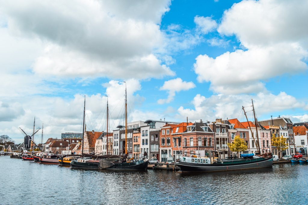 A cityscape view of Leiden