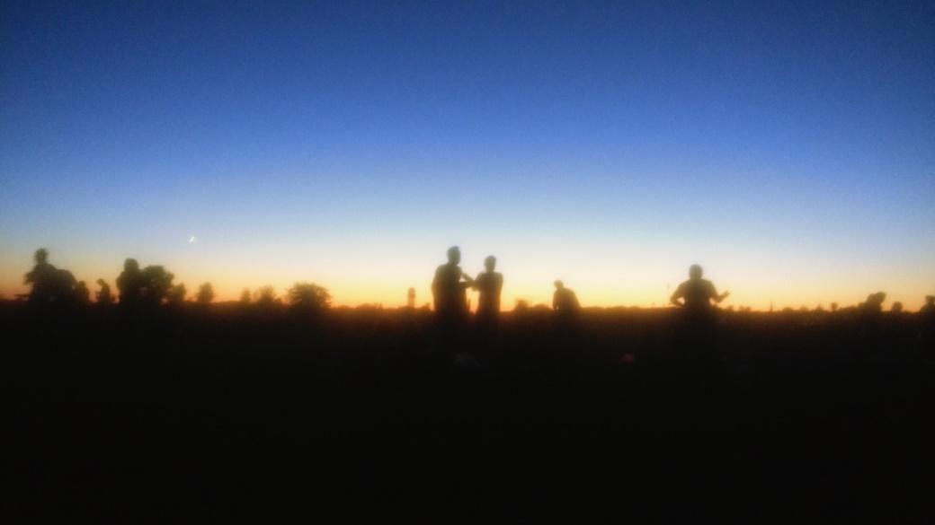 Tempelhofer Feld at sunset