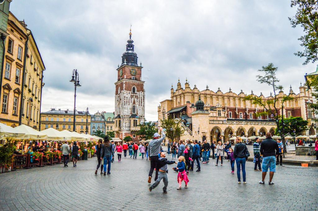 Historic square in Krakow