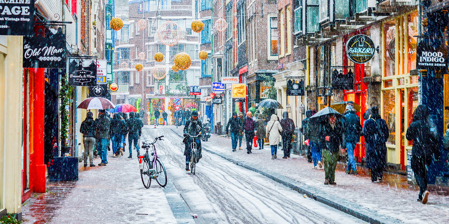 Photos of Snow in Amsterdam