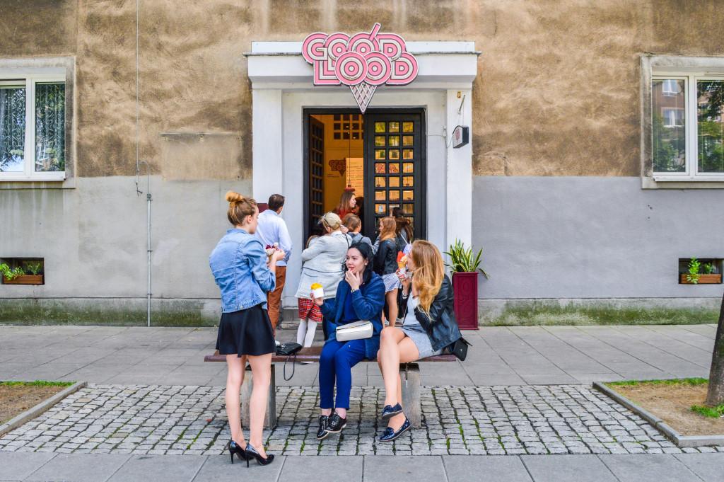Ice cream shop in Krakow