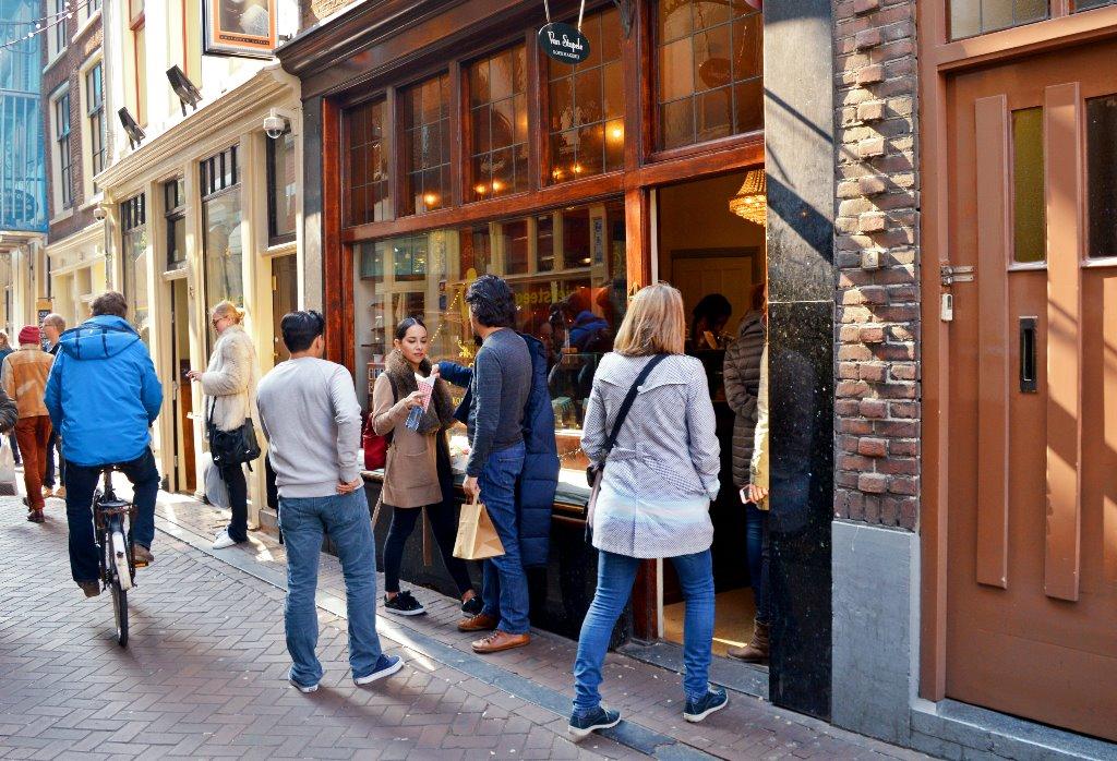 A popular food spot in Amsterdam: Van Stapele cookies.