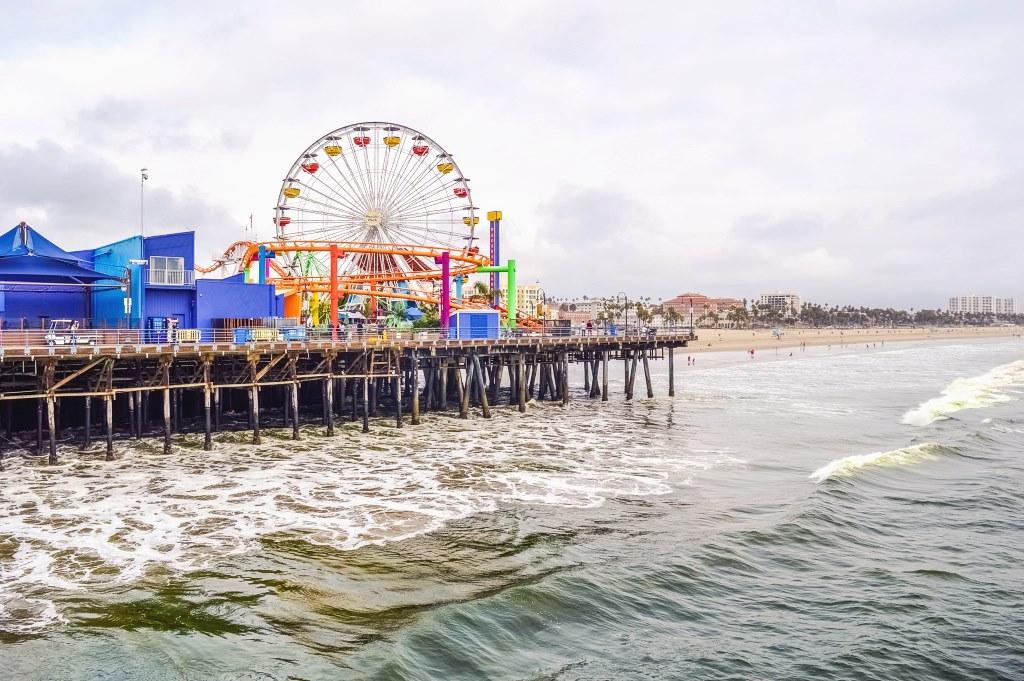 De Pacific Park Pier in Los Angeles