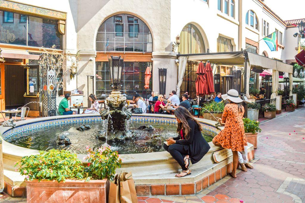 Shoppen in het stadshart van Santa Barbara