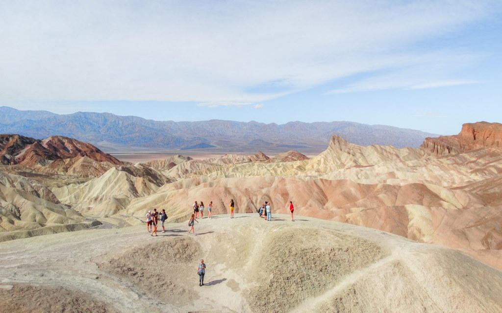 A view of Zabriskie Point in Death Valley