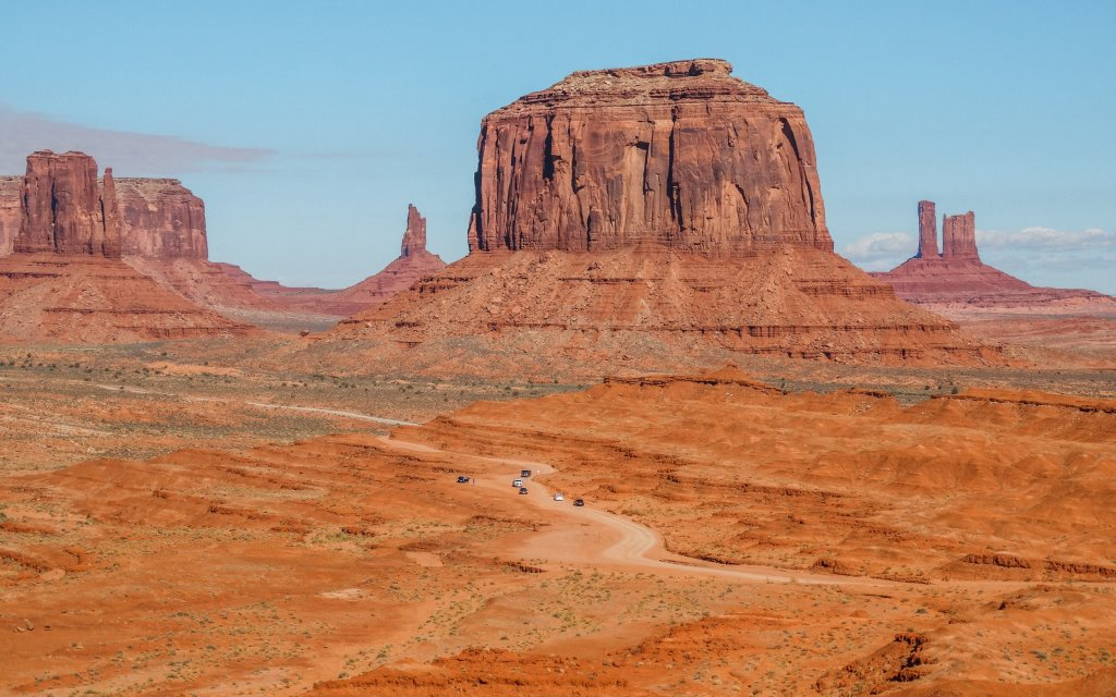 Monument valley on the Colorado Plateau