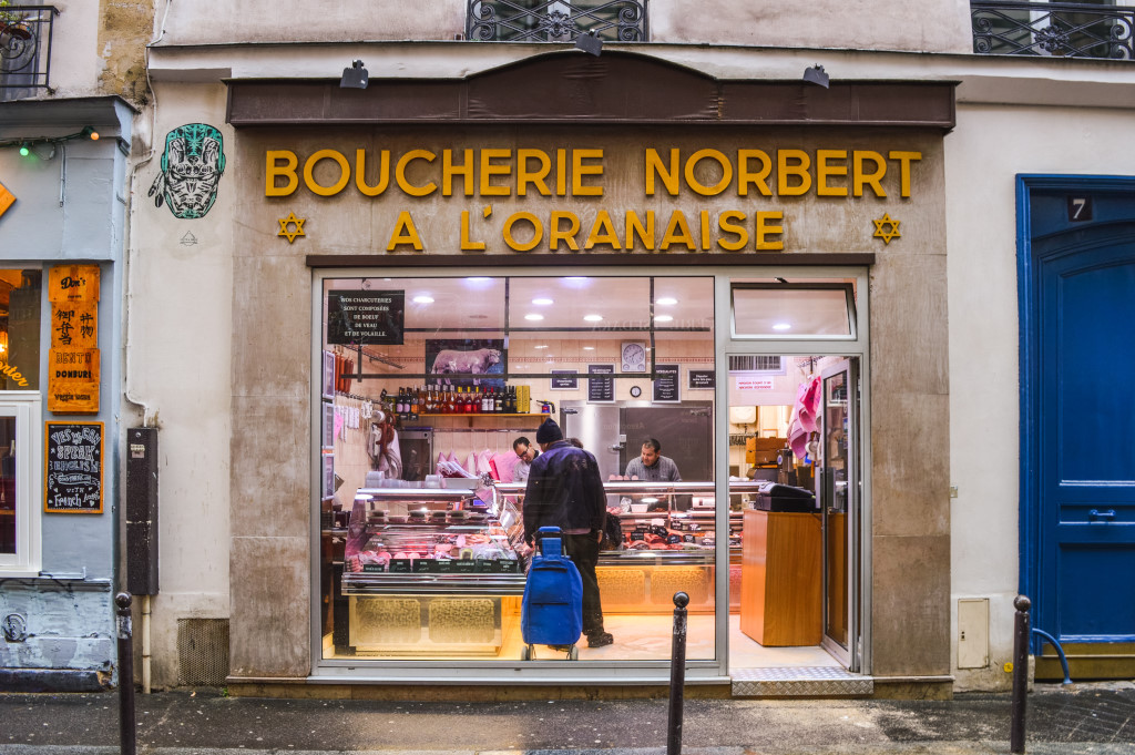 A butcher's shop in the Jewish quarter, Le Marais