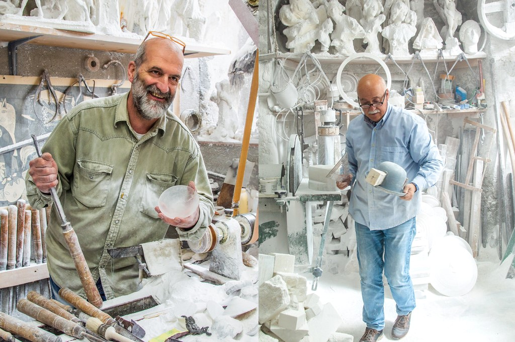 Alabaster sculptors in Volterra