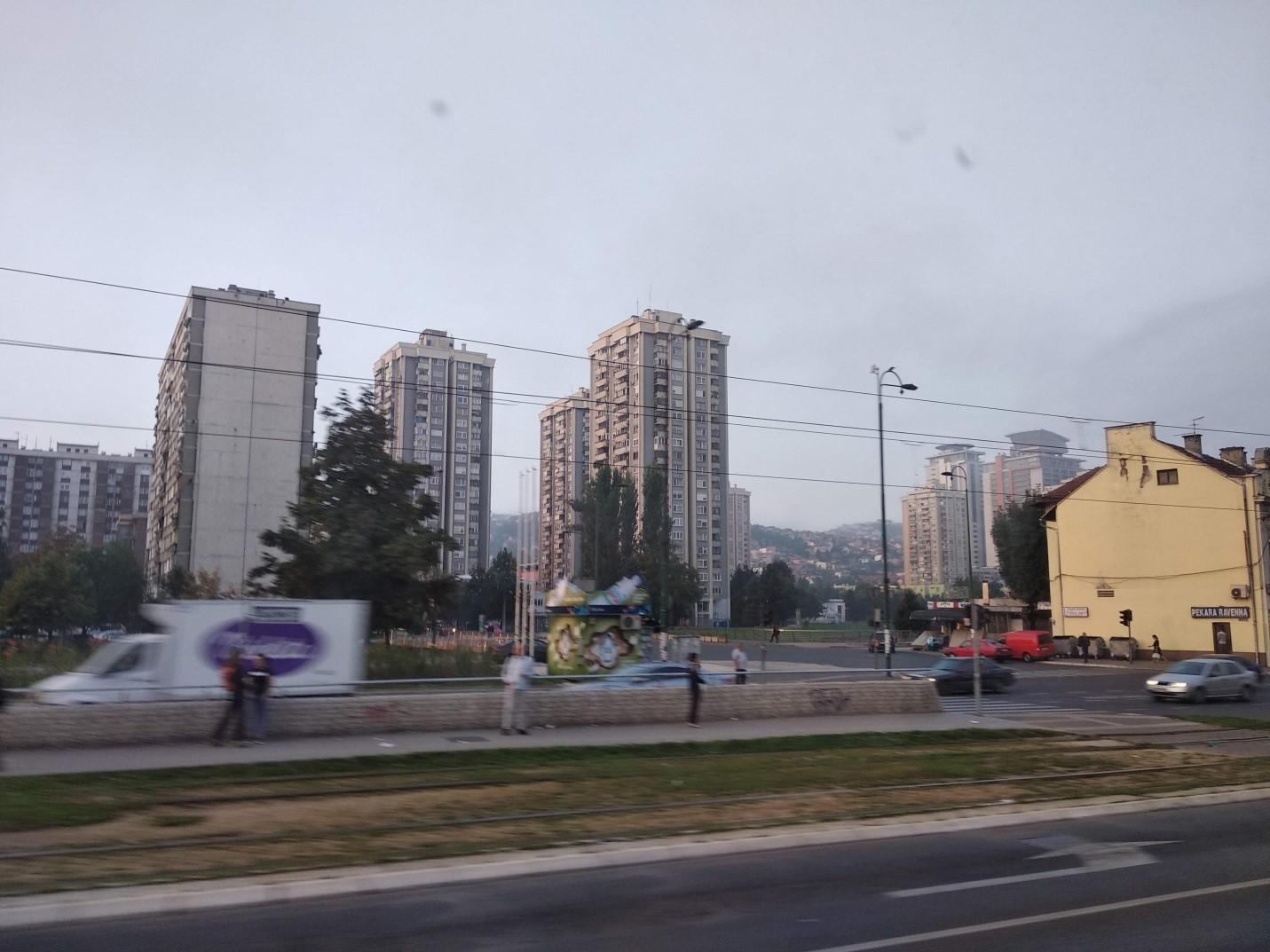 Tram tracks running from Sarajevo center through the Otoka district
