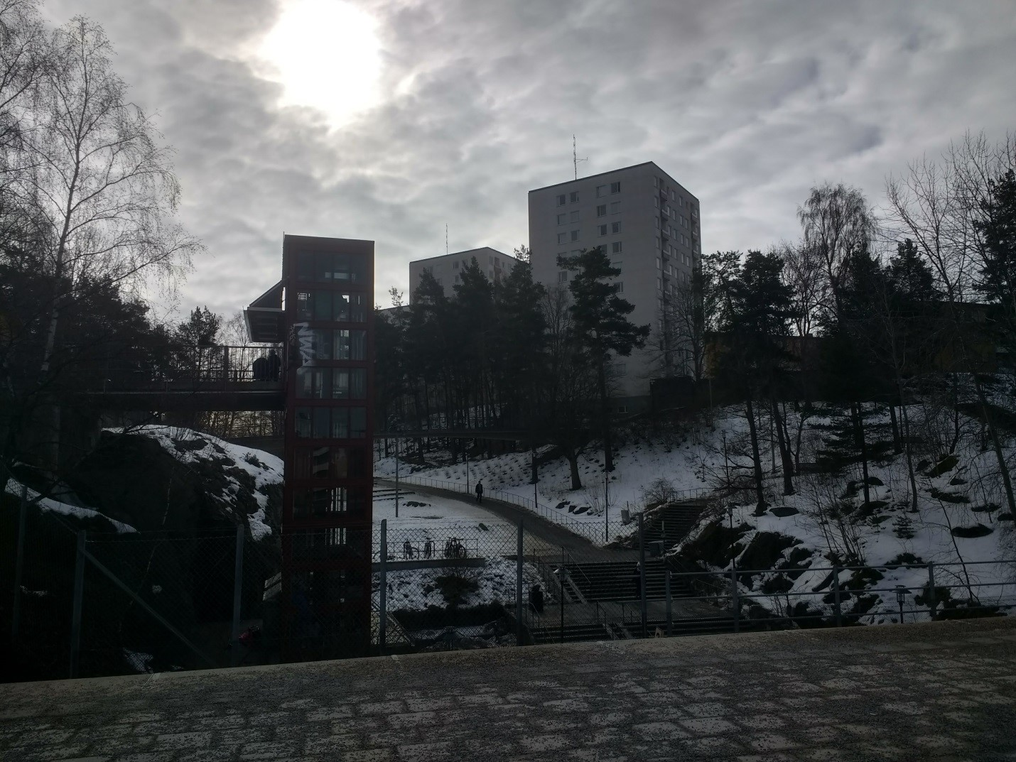 The aboveground metro station of Ragsved, a Stockholm suburb, in March.