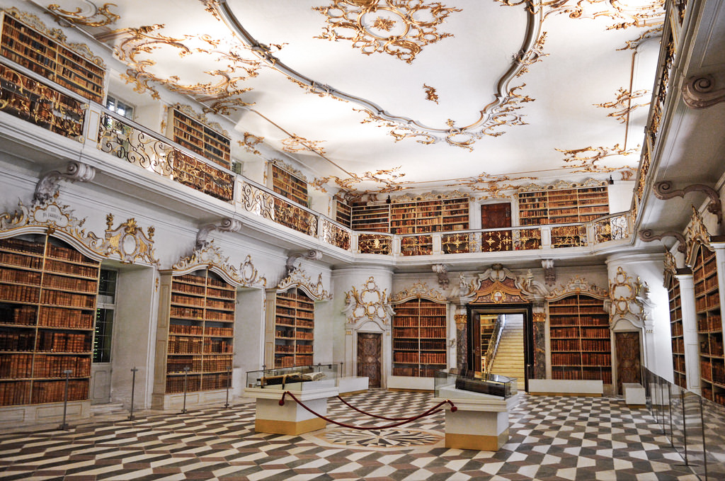 A historic library in South Tyrol, Italy