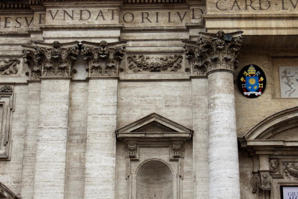 Een monumentale facade in Rome (historical facade in Rome)