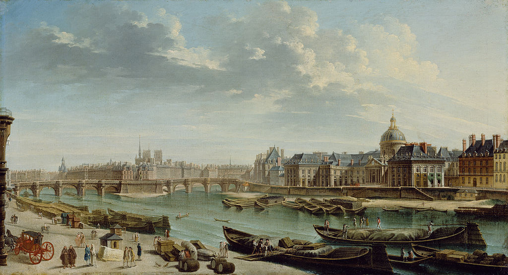 A painting of Paris in the 18th century