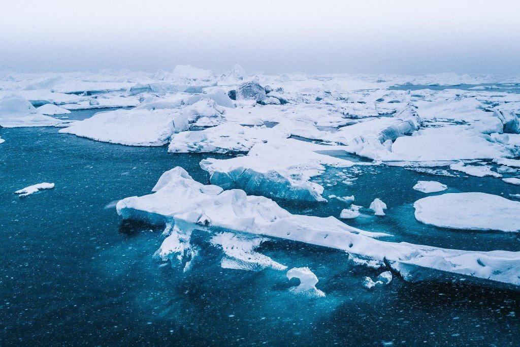 Polar deserts are found in the Arctic and Antarctica