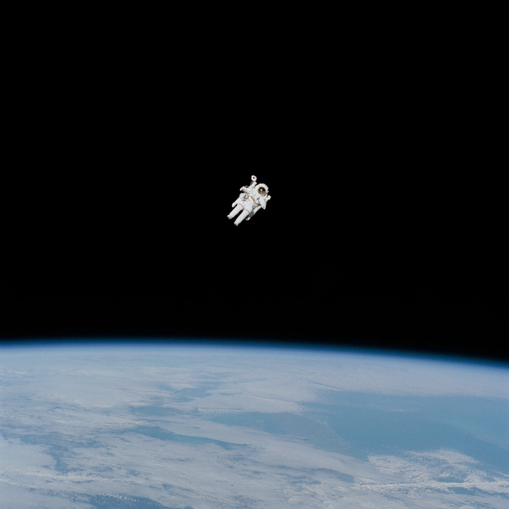 An official image of an astronaut in space, released by NASA